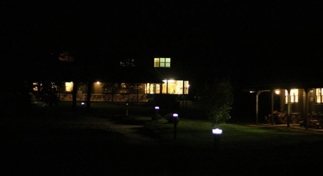 Cedar Campus at night