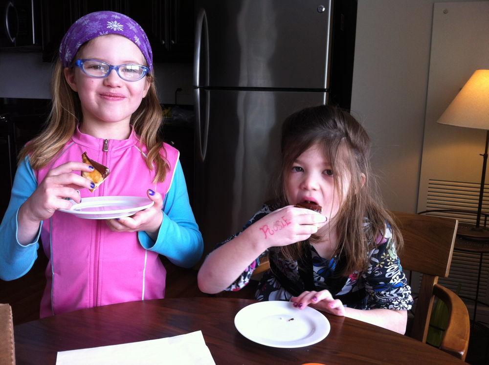 Eating paczkis.